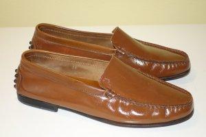 Org. TOD'S Loafer/Slipper braun Gr.38 Glattleder