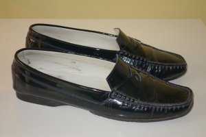 Org. TOD'S Loafer/Slipper Lackleder dunkelblau Gr.39