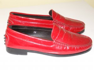 Org. TOD'S Loafer/Slipper rot Lackleder Gr.38