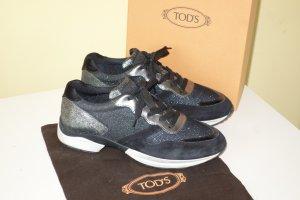 Org. TOD'S Sneaker mit Glitter Gr.38,5 inkl. Karton+Dustbag