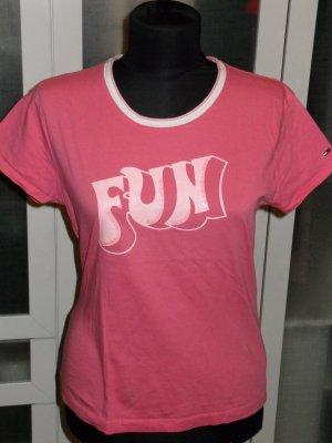 "Org. TOMMY HILFIGER Denim ""Fun"" Shirt in rosa Gr.L"