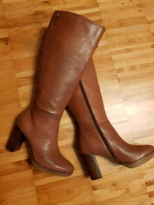 Tommy Hilfiger Wide Calf Boots brown
