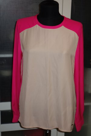 Org. TOMMY HILFIGER oversized Bluse Gr.36 colour blocking NEU+Etikett