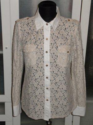 Org. TORY BURCH Spitzen-Bluse creme/pastell Gr.36