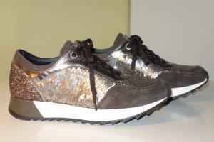 Org. TOSCA BLU Sneaker mit Pailletten und Glitter Gr.38