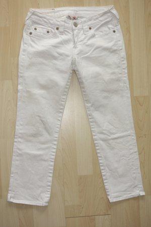 Org. TRUE RELIGION 7/8 Jeans in weiß Gr.28