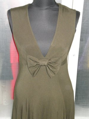 Org. TWIN SET Simona Barbieri Kleid Swinger Gr.S khaki
