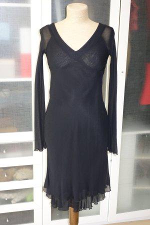 Org. TWIN SET Simona Barbieri Midi Kleid in schwarz Gr. XS