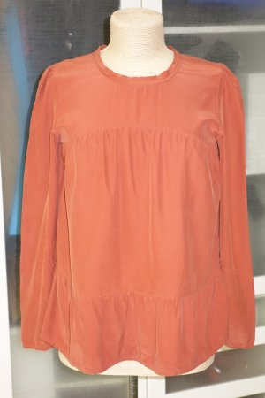 Org. TWIN SET Simona Barbieri Seiden-Bluse in terracotta Gr.S