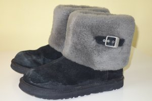 "Org. UGG Australia Lammfell Boots ""Ellee"" in schwarz/grau Gr.38 inkl. Karton"