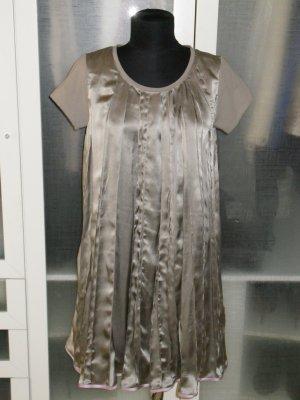 Org. ULI SCHNEIDER edition couture Seidenkleid plissiert hellgrau