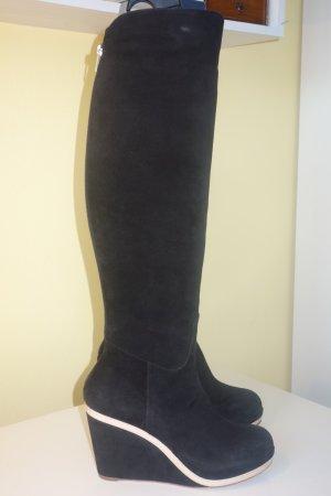 Unützer Platform Boots black suede