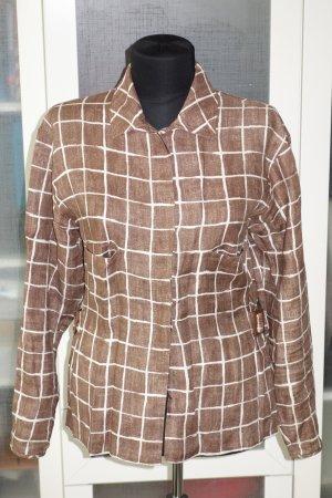 Valentino Blusa in lino marrone-crema Lino