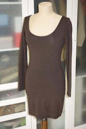 Velvet Stretch Dress dark brown