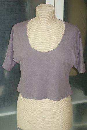 Org. VELVET oversized Crop Shirt in pflaume/braun Gr.S