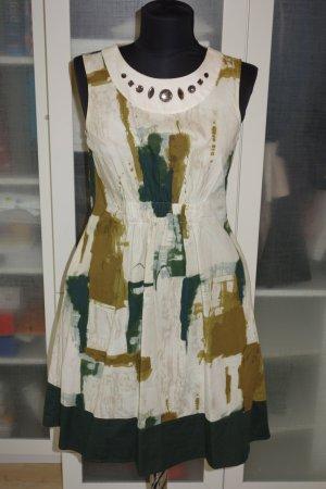 Org. VERA WANG Kleid mit Muster und Schmucksteinen Gr.36