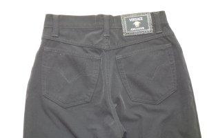 Versace Jeans Couture Pantalone a vita alta nero