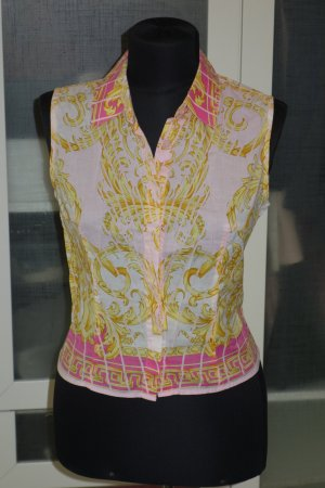 Org. VERSACE Signature Bluse mit Muster Gr.S