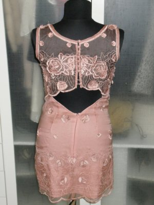 Org. VERSACE vintage Couture Kleid mit tollen Applikationen puder
