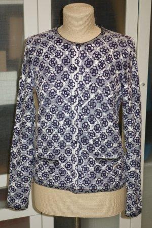 Woolrich Giacca in maglia blu scuro-bianco Cotone