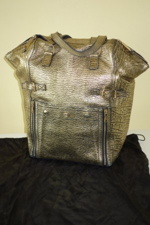 Org. YVES SAINT LAURENT Downtown bag XL in gold top Zustand inkl. Dustbag