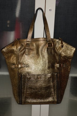 Org. YVES SAINT LAURENT Downtown bag XL in gold wie neu