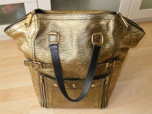 Org. YVES SAINT LAURENT YSL Downtown bag XL in gold wie neu