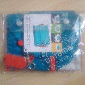 Mini Bag neon blue-neon red synthetic fibre
