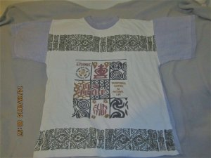 *Orginal 70'S T-Shirt* Hippistyle/ Aztek Druck *Marke Traditional Clothes* Gr. L