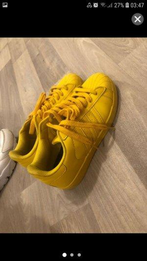 Adidas Originals Sneaker stringata giallo neon Pelle