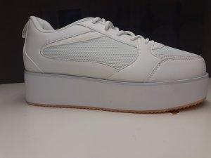 Asos Sneaker con tacco bianco-argento