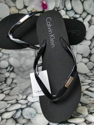 Calvin Klein Entre-doigt noir-argenté