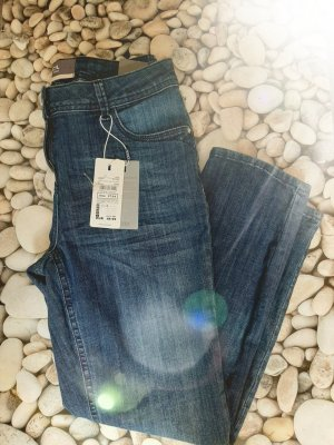 Cecil 3/4 Length Jeans blue cotton