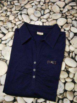 Orginal ESPRIT Polo LS Shirt, dkl. Blau, Gr. M