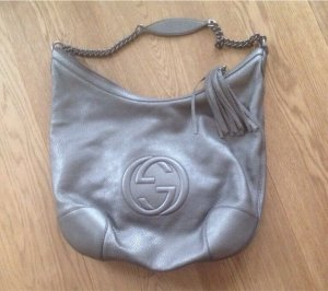 Orginal Gucci Soho Metallic Chain Bag Tasche