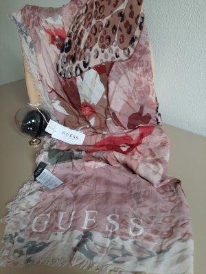 Orginal GUESS! Tuch 140x140 cm, rose', floral, Neu& Etikett!