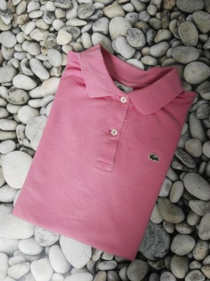 Orginal Lacoste Polo Shirt, Gr. 42, rosa