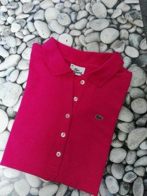 Lacoste Polo shirt roze Katoen