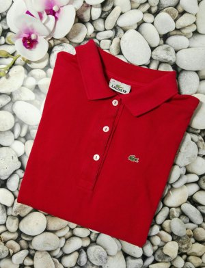 Orginal Lacoste Polo Shirt, Rot, Gr. 44