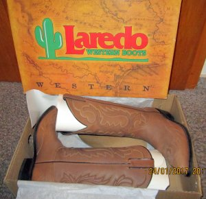 Lareida Western Boots brown leather