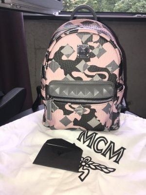 MCM Sac à dos rose clair-gris