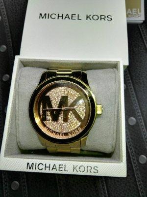 Orginal Michael Kors Armbanduhr, 3,5 cm ZB, Straßsteichen, gold/rose'