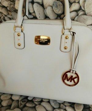"Orginal Michael Kors Handtasche, ""Satchel"", genuine Leather,cremeweiss/Gold, Hochwertig!"