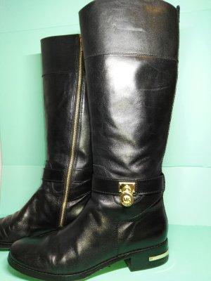 Michael Kors Jackboots black-gold-colored