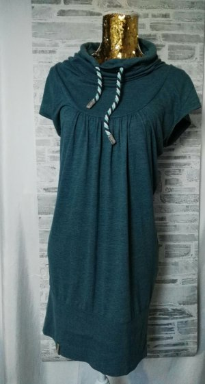 Naketano Sweat Dress petrol-sage green