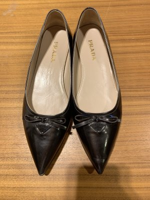 Prada Ballerinas with Toecap dark grey