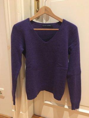 Orginal Ralph Lauren V-Ausschnitt Pullover in lila