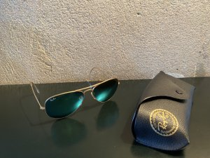 Ray Ban Aviator Glasses gold-colored-lime-green metal