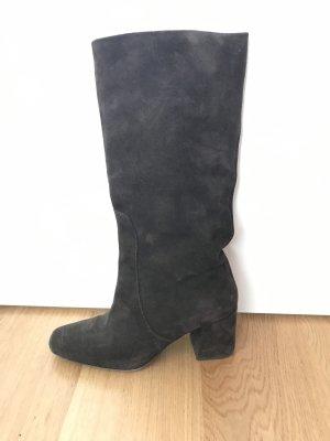 Slouch Boots dark brown suede