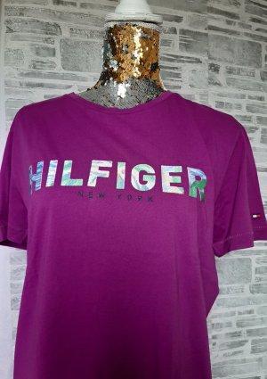 "Orginal Tommy Hilfiger T-Shirt,  ""fuchsia"", Gr M, Neu &Etikett!"